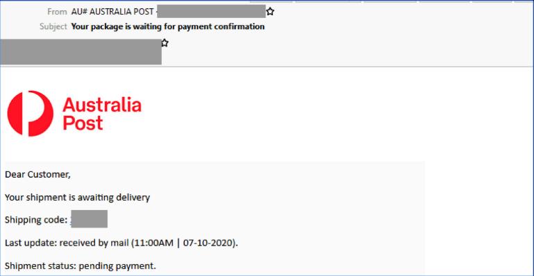Australia Post Email Scam