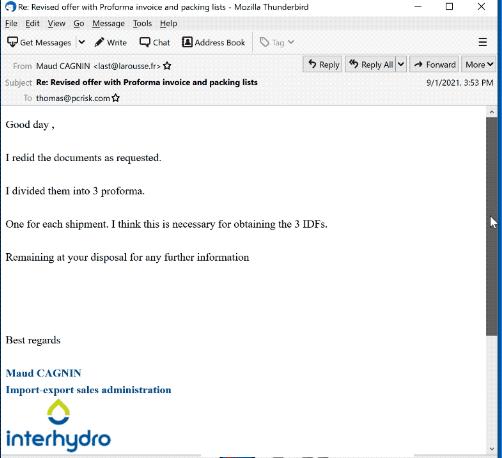 Interhydro Email Virus